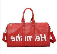 Top Qualité En Cuir Véritable Neuf Mode Hommes Sac de voyage Femmes Sac de sport, Marque Sacs à main à bagages Grand sac de sport de grande capacité