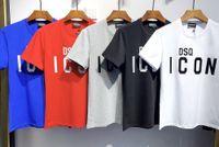DSQ Phantom Tortue 2020ss New Mens Designer T-shirt Paris Mode T-shirts Été DSQ Modèle T-shirt Homme Top Qualité 100% coton Top 6823
