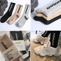 Moda altura de la rodilla calcetines 500 hombres de las mujeres de algodón calcetines de los deportes con las etiquetas de paquetes individuales Ocio Deportes Hip Hop Calcetines