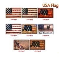 USA drapeau métal signes Tin Vintage Posters Vieux mur mur métal Plaque Club Accueil métal art Peinture murale décor Art déco de fête Photo FFA2805