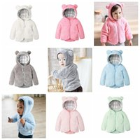 Kids Designer Clothes Winter Velvet Coats Cartoon Bear Outwe...