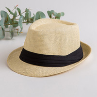 Straw Hat Jazz Cap Summer Grass Paper Woven Breathable Straw...