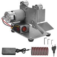 متعدد الوظائف المهنية مطحنة صغيرة محمولة حزام ساندر الكهربائية DIY تلميع آلة طحن كتر حواف مبراة (EU