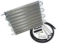 Универсальный 8-рядный алюминиевый масляный радиатор коробки передач Комплект радиаторов черного цвета