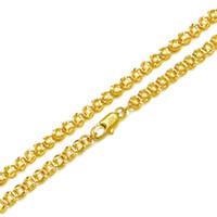 (309n) (50 cm x 4 mm) imitar monedas collares para hombres mujeres 24k joyería de moda chapada en oro sin níquel