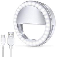2019 LED Işık USB Özçekim Işık Halkası Işık Telefon Şarj Edilebilir Flaş Lamba tüm cep telefonları için Özçekim Halka Aydınlatma Kamera Fotoğrafçılığı