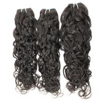 販売10A高級濡れと波状の髪18 20 22インチ3バンドルブラジルペルーウォーターウェーブバージンの髪の毛