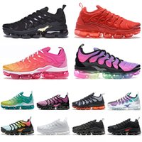 nike air vapormax tn plus 2020 off white New 2020 Almofadas tênis para Designer Mens Womens Sneakers Preto Whiite Hiper Azul Red Shark Tooth Bumblebee Trainers Tamanho 47