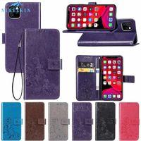 Klasik Çiçek Tahliye Deri Flip Case IPhone 11 Pro XR XS Max Kitap Stil Kart Yuvaları Standı Kapak IPhone 6 6S 7 8 Artı uk0001