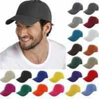Solide Couleur Baseball Cap 23 couleurs réglable Sports de plein air Hip Hop ordinaire Baseball Visor Chapeaux OOA6455