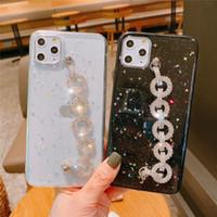 Дизайнерская Богиня Rhinestone Алмазный браслет цепи Bling блеск звезды крышки случая для iPhone 12 Mini 11 Pro XS Max XR X 8 7 6S Plus SE