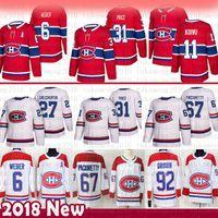 uomini Carey Price Montreal Canadiens Hockey maglie 6 Shea Weber 67 Max Pacioretty 27 Alex Galchenyuk 92 Jonathan Drouin 11 Brendan Gallagher