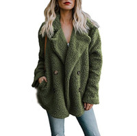 8 цветов Повседневного Негабаритного искусственного мех пальто куртки зима женщины толстое пальто Плюс Размер Шинель Верхняя одежда
