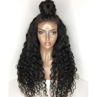 Pelucas de cabello humano del frente de encaje sin glanas Pelucas de encaje completo pre-arrancadas Pelucas de encaje completo Ola profunda 10-26 pulgadas Pelucas afroamericanas