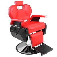 Professional Salon SPA Barber Chair Adjustable PVC Leather C...