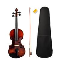 アコースティックバイオリン4/4フルサイズソリッドウッドバイオリンフィドル光沢仕上げバイオリン高品質新品