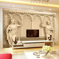 3D Mural Wallpaper Backdrop Escultura Europea Murales Moderno Home Decor Fondo de la sala de estar de alta calidad de papel de pared