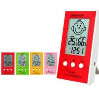실내 실외 온도계 1pcs 정확한 습도계 디지털 시계 온도 로거 습도계 온도