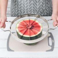 Conveniente melancia Fatiador de cozinha de aço inoxidável talhadeiras Ferramentas de Corte da melancia cortador de frutas cortador cozinha Frutas Ferramentas Gadget