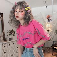 Été dropshipping impression occasionnel Harajuku T-shirts vintage haut chemise punk végétalien Ulzzang vêtements gothiques manches courtes T-shirt Hip hop
