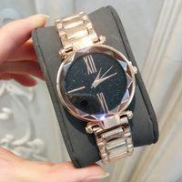 2019 뜨거운 판매 럭셔리 여성 시계 장미 금 고품질 패션 숙녀 드레스 시계 석영 보석 테이블 무료 배송 Relojes De Marca Mujer