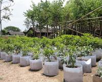Não tecido reutilizáveis Soft-Sided Panelas crescer altamente respirável Plantando Bag com alças preço barato grande plantador de flor