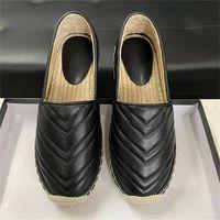 Donne Slip-on scarpe di cuoio Espadrille piattaforma vera pelle Fashion Dress Casual Espadrille scarpe Cord piattaforma morbida suola 5 colori con la scatola