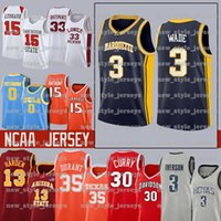 3 Dwyane NCAA Marquette Golden Eagles Wade Jersey Steve Nash Santa Clara Lebron James Morant Ja curry Durant