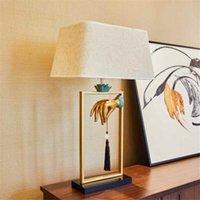 Moderne chinesische harz tischlampe restaurant villa hotel wohnkultur wohnzimmer schlafzimmer schreibtisch licht ta054