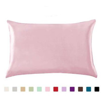 100% Queen Standard Satin Silk weiche Mulberry Plain Pillowcase Abdeckung Stuhl-Sitz Platz Kissenbezug Home19
