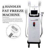 4 Handles Fat Freeze Cryo Slimming Machine Best Cellulite Treatment Cryolipolysis Ultrashape Lipo Fat Removal Belt Reduction machines