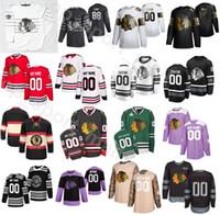 Индивидуальные 2020 Чикаго Блэкхокс Хоккей 64 Дэвид Kampf трикотажные изделия Мужчины 5 Connor Murphy 6 Мяяття 65 Andrew Shaw 22 Ryan Карпентер