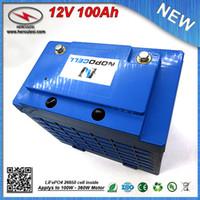 LiFePO4 12V 100Ah Lityum demir fosfat batarya paketi / 30A BMS 3,2V 3.3Ah hücre özgür gemiler ile Lipo 12V 100Ah UPS Pil