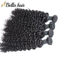 "Mongol Pacotes cabelo encaracolado weave do cabelo Weaves 3pcs 100% Virgens extensões do cabelo humano tramas 8 ""-30"" Bellahair Cor Natural"
