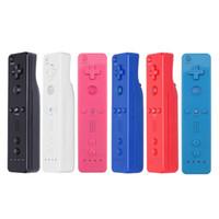 6 Farben drahtlose Wiimote Fernbedienungen für Wii Gamepad Joystick ohne Bewegung plus Qualitäts-FAST SHIP