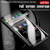 Tam Ekran Koruyucu Samsung Galaxy S21 S20 S20PLUS S20 Ultra Note20 Ultra Note10 S10 Artı Tam Kapak Protectiv Film Temperli Cam