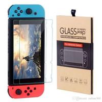 Nintendo Anahtarı temperli cam Ekran Koruyucu Film 2.5D 9H Premium 2 Paketi ile Perakende Paketi İçin
