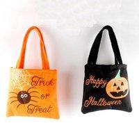 Хэллоуин нетканые сумки Хэллоуин конфеты мешок сумки малыш подарочная сумка паук тыква печатных организатор сумка для вечеринок Vt0563