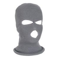 NEUE Vollmaske Ski Mask Winter Gesichtsmaske Cap Balaclava Hood Army Tactical 3 Loch Radfahren Winter # 4n26