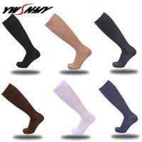 6 pçs / lote meias de compressão para homens mulheres para enfermeiros graduados enfermagem de pressão de viagem circulação anti-fadiga meias