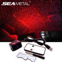 12V USB Interior Auto Atmosphere Beleuchtung Automobiles Projector Dekorative Armlehne Box Romantischer Sternenhimmel Licht DJ Red Star Lampe
