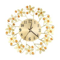 Schmiedeeisen Diamant Mode Wanduhr Schlafzimmer Silent Metal Wall Clock Decor