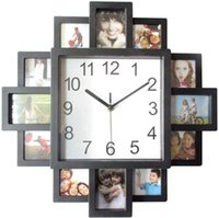 16 Inch Photos Wall Clock Photo Frame Clock for Photographs,...