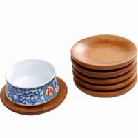 다방 방 커피 연안 무역선 테이블 훈장을 위한 자연적인 대나무 원형 차잔 매트 방열 텀블러 패드 1 4hs E19