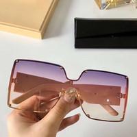Pedras sem aro Oversize Sunglasses caixa wth rosa sombreada metal Óculos Sonnenbrille Ladies Sunglasses férias Shades New