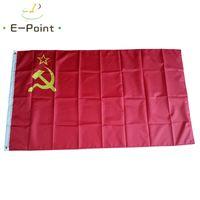 اتحاد الجمهوريات الاشتراكية السوفياتية العلم السوفيتي الشيوعي الاتحاد المطرقة راية 3 * 5FT (90CM * 150CM) البوليستر راية الديكور ترفع علمها حديقة المنزل
