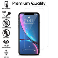 Clear Screen Protector in vetro temperato per iPhone 6S 7 8 Plus X XR XS Max Samsung J2 Pro J4 J6 J8 A10E M10