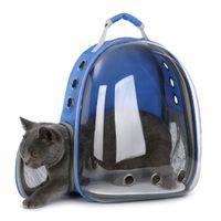 Gatos y perros pequeños Cápsula de espacio transparente Bolsa de hombro transpirable Mascota fuera de viaje Portátil Mochila de transporte Perros Gato jaula de transporte