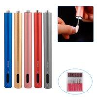 Elektrische tragbare Maniküre Machine Set LED Mini Nagelbohrer Stift Bits Schneider zum Entfernen von Gel Lack Nagel Pediküre Schleifkunstwerkzeuge