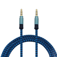 Cavo audio prolunga AUX ausiliario da 3,5 mm Cavo metallico ininterrotto Treccia da maschio a maschio Cavo stereo 1,5 m 3 m
